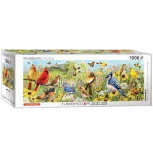 Puzzle Eurographics panorámico Pájaros de 1000 piezas