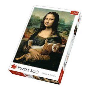 Puzzle Trefl Mona Lisa Gato de 500 piezas