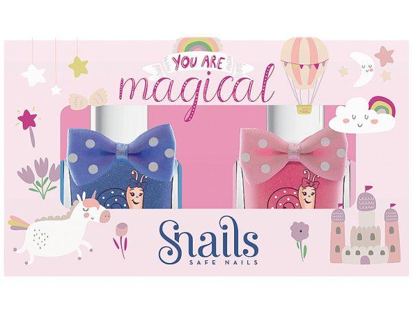 Pintauñas infantil Pack 2 esmaltes You are magical SNAILS