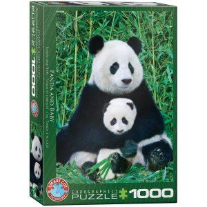 Puzzle Eurographics Panda y cría de 1000 piezas