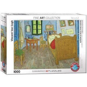 Puzzle Eurographics Dormitorio en Arles de Van Gogh de 1000 piezas