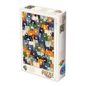 Puzzle DToys Gatos de Andrea Kürti de 1000 piezas