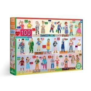Puzzle niños eeBoo Niños del mundo de 100 piezas