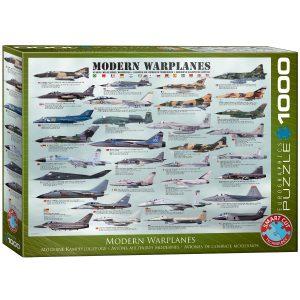 Puzzle Eurographics Aviones de guerra modernos 1000 piezas