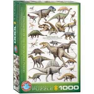 Puzzle Eurographics Dinosaurios del Período Cretácico 1000 piezas