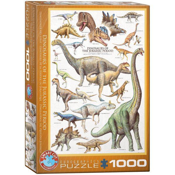 Puzzle Eurographics Dinosaurios del Período Jurásico 1000 piezas