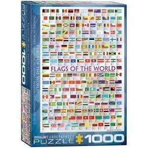 Puzzle Eurographics Banderas del Mundo 1000 piezas