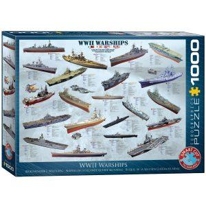 Puzzle Eurographics Buques Segunda Guerra Mundial - WWII 1000 piezas