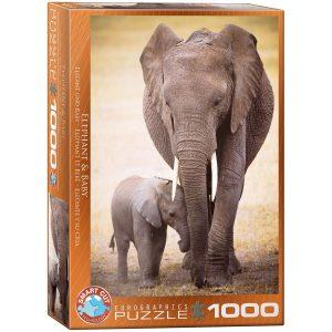 Puzzle Eurographics Elefante y su cría 1000 piezas
