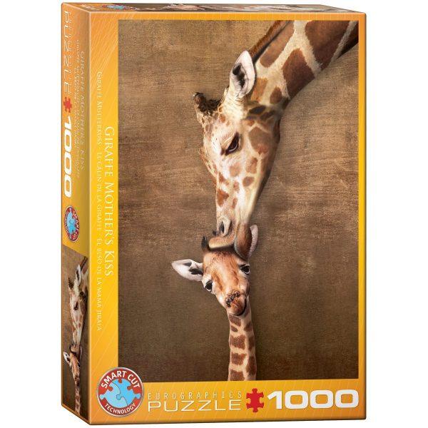 Puzzle Eurographics Beso de la Madre Girafa 1000 piezas