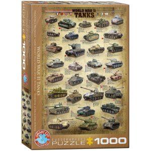 Puzzle Eurographics Tanques de la Segunda Guerra Mundial - WWII 1000 piezas