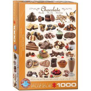 Puzzle Eurographics Chocolate + Receta Brownie 1000 piezas