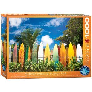 Puzzle Eurographics El Paraíso Surfero de Hawaii 1000 piezas