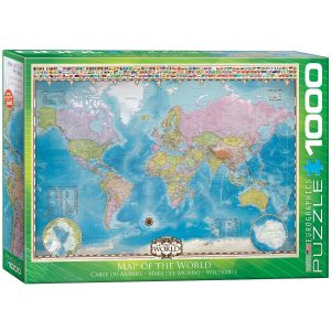 Puzzle Eurographics Mapa del Mundo con Banderas 1000 piezas