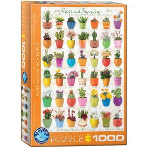 Puzzle Eurographics Cactus y plantas suculentas 1000 piezas