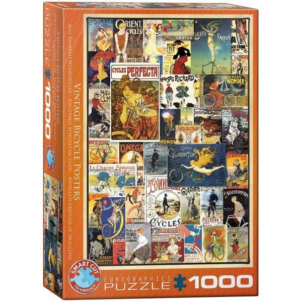 Puzzle Eurographics Antiguos carteles de bicicletas 1000 piezas