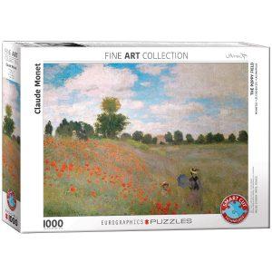 Puzzle Eurographics Amapolas de Claude Monet 1000 piezas