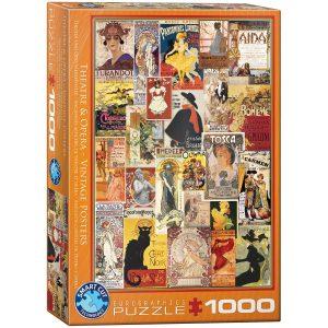 Puzzle Eurographics Antiguos carteles de teatro y opera 1000 piezas