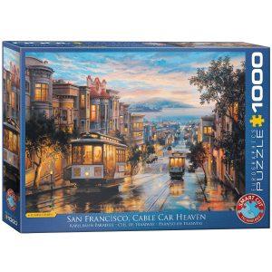 Puzzle Eurographics Paraíso de tranvías de Eugene Lushpin 1000 piezas