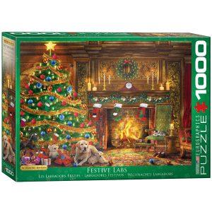 Puzzle Eurographics Arbol de Navidad y Labradores 1000 piezas