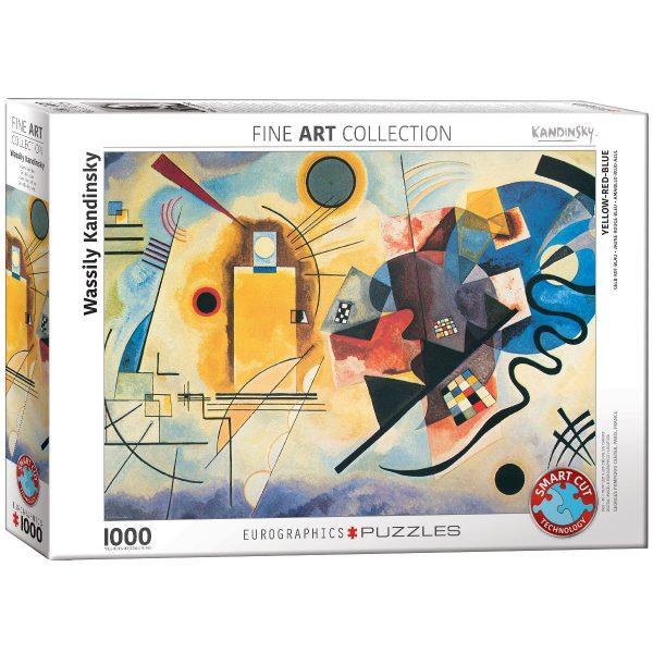 Puzzle Eurographics Amarillo rojo azul de Kandinsky 1000 piezas