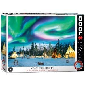 Puzzle Eurographics Aurora Boreal Luces del norte - Yellowknife 1000 piezas