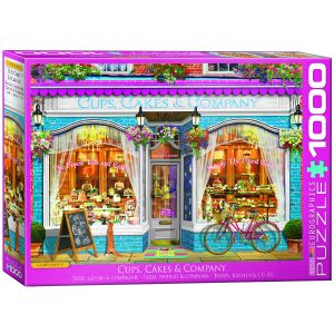 Puzzle Eurographics Cup & Cakes & Company 1000 piezas