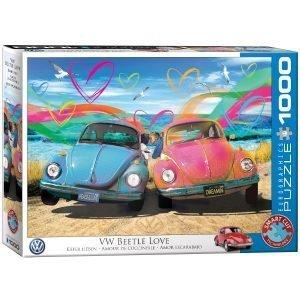 Puzzle Eurographics Amor Volkswagen Escarabajo Bettle de Parker Greenfield 1000 piezas