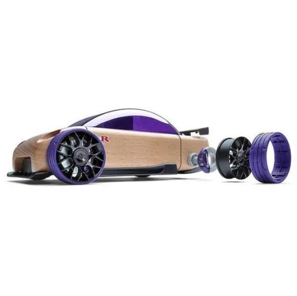 Coche madera Sport C9-R morado Automoblox