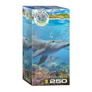 Puzzle niños Eurographics Delfines de 250 piezas