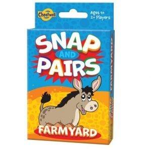 Juego de Cartas Snap and Pairs Farm de Cheatwell