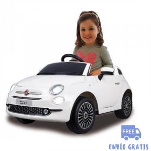 Coche Infantil eléctrico Fiat 500 blanco 12V