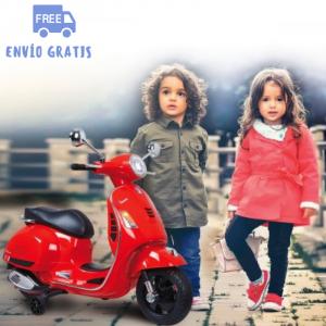 Moto eléctrica niño niña Vespa roja GTS 125 12V