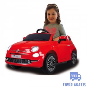 Coche Infantil eléctrico Fiat 500 rojo 12V