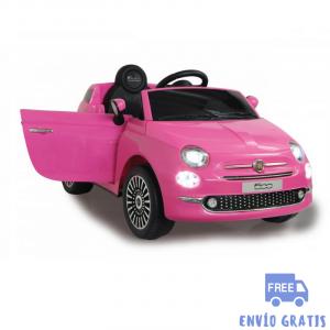 Coche Infantil eléctrico Fiat 500 fucsia 12V