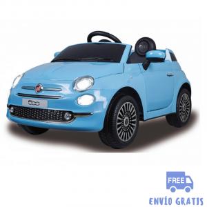 Coche Infantil eléctrico Fiat 500 azul 12V