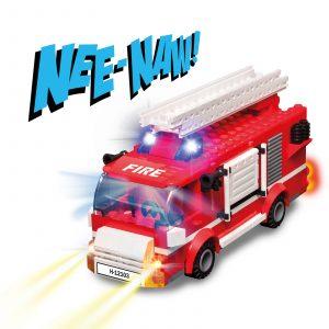 Juego construcción Camión de bomberos Stax Hybird