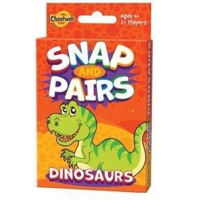 Juego de Cartas Snap and Pairs Dino de Cheatwell