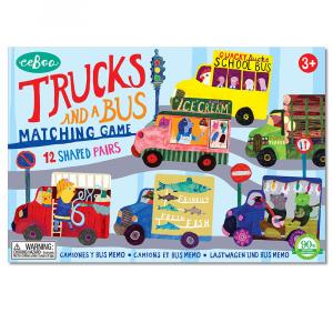 Juego de Memoria eeBoo 12 parejas Camiones y Autobús