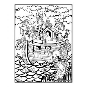 Lámina para colorear Arca de Noé de Color Velvet