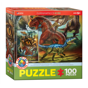 Puzzle niños Eurographics Dinosaurios Carnívoros de 100 piezas